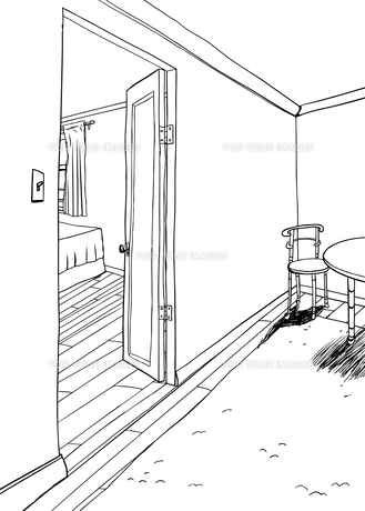 Furniture in Rooms Background Outlineの素材 [FYI00761450]