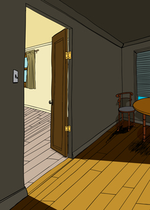 Apartment Interior with Table and Chairの素材 [FYI00761458]