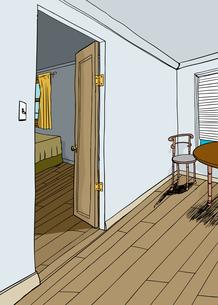 Bedroom with Open Doorの写真素材 [FYI00761459]