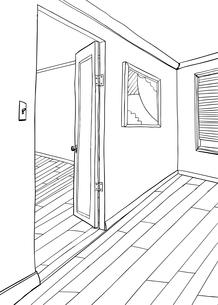 Artwork in Room Illustration Outlineの素材 [FYI00761460]