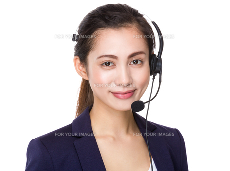 Customer services assistantの写真素材 [FYI00761758]