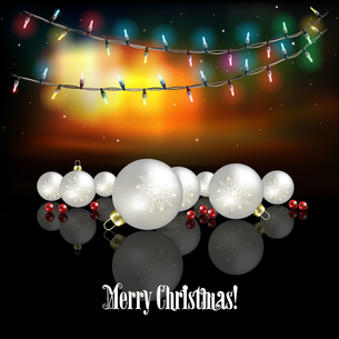 Abstract celebration background with Christmas decorationsの素材 [FYI00761887]
