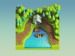 green earth concept in isometric viewの写真素材 [FYI00762070]