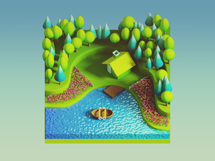 green earth concept in isometric viewの写真素材 [FYI00762082]