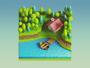 green earth concept in isometric viewの写真素材 [FYI00762090]