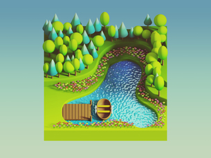 green earth concept in isometric viewの写真素材 [FYI00762096]