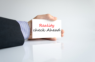 Reality check ahead Text Conceptの写真素材 [FYI00762459]