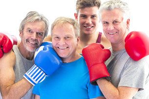 Senior boxing club with their trainerの写真素材 [FYI00762553]