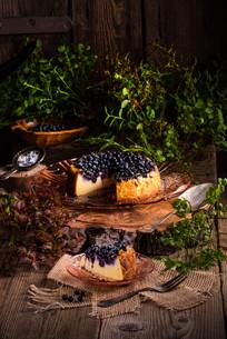 cheesecake blueberriesの写真素材 [FYI00762594]
