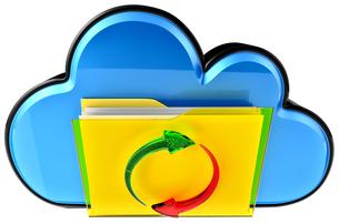 cloud computing and circulation digital documentsの写真素材 [FYI00762858]