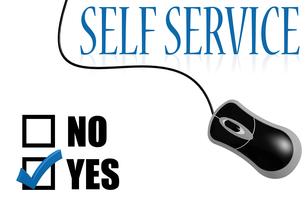 Self service check markの素材 [FYI00762923]
