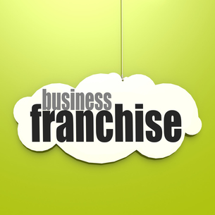 White cloud with franchise businessの素材 [FYI00762927]