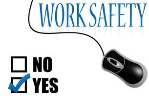 Work safety check markの素材 [FYI00762940]