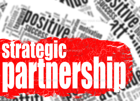 Word cloud strategic partnershipの写真素材 [FYI00762945]