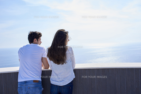 happy young romantic couple have fun and  relax at homeの写真素材 [FYI00762967]