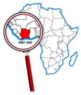 Ivory Coast Under A Magnifying Glassの素材 [FYI00763186]
