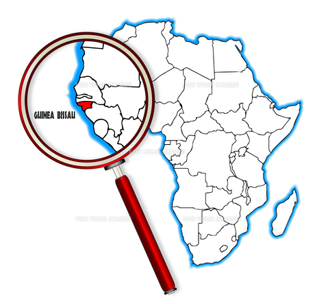 Guinea Bissau Under A Magnifying Glassの素材 [FYI00763195]