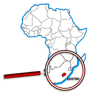 Lesotho Under A Magnifying Glassの素材 [FYI00763199]