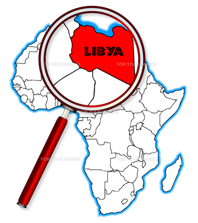 Libya Under A Magnifying Glassの素材 [FYI00763201]