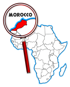 Morocco Under A Magnifying Glassの素材 [FYI00763202]