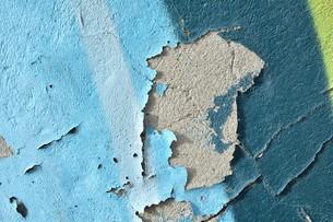peeling paint on a wallの素材 [FYI00763336]