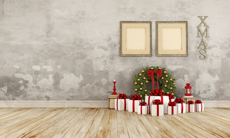 Vintage christmas interiorの素材 [FYI00763432]
