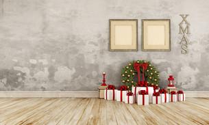 Vintage christmas interiorの写真素材 [FYI00763432]