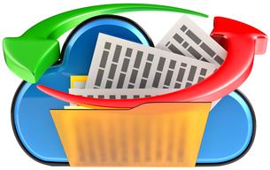 cloud computing and circulation digital documentsの写真素材 [FYI00763609]