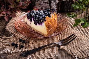 cheesecake blueberriesの写真素材 [FYI00763950]