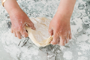 Preparation of Dough for Baklavaの写真素材 [FYI00764134]