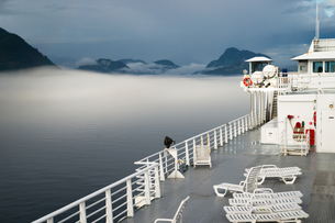 Sun Deck Cruise Ferry Boat Inside Passage Canadian Watersの写真素材 [FYI00764264]