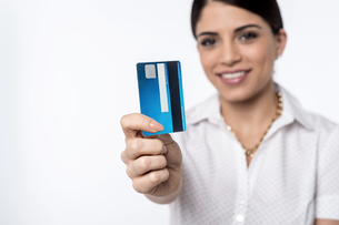 Ready to shop with credit card !の写真素材 [FYI00764631]