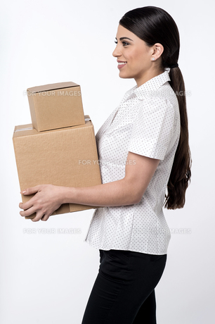 Here is your parcels is sir !の写真素材 [FYI00764634]