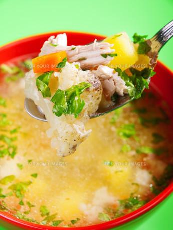 Vegetable soup,Vegetable soup,Vegetable soup,Vegetable soupの写真素材 [FYI00764820]