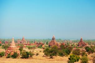 Bagan Skyline, Myanmar,Bagan Skyline, Myanmar,Bagan Skyline, Myanmar,Bagan Skyline, Myanmarの写真素材 [FYI00764900]
