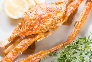 Closeup hot and spicy chili crabの写真素材 [FYI00765031]