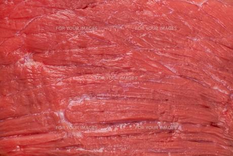 macro shot of fibers fresh meatの写真素材 [FYI00765247]