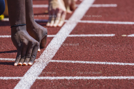 athletics sprintの写真素材 [FYI00765852]
