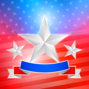 American flag with white stars and ribbonの写真素材 [FYI00765964]