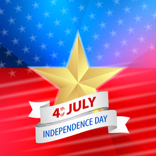 American 4th of July with ribbonの写真素材 [FYI00765969]