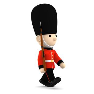 イギリスの近衛兵 おもちゃの兵隊  3DCG イラストのイラスト素材 [FYI00766198]