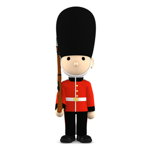 イギリスの近衛兵 おもちゃの兵隊  3DCG イラストのイラスト素材 [FYI00766199]