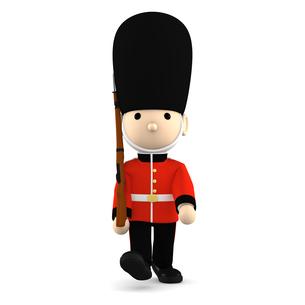 イギリスの近衛兵 おもちゃの兵隊  3DCG イラストのイラスト素材 [FYI00766200]