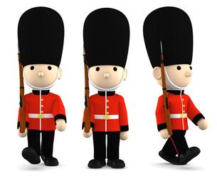 イギリスの近衛兵 おもちゃの兵隊  3DCG イラストのイラスト素材 [FYI00766201]