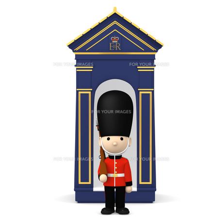 イギリスの近衛兵 おもちゃの兵隊  3DCG イラストのイラスト素材 [FYI00766202]
