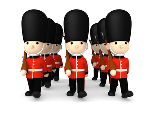 イギリスの近衛兵 おもちゃの兵隊  3DCG イラストのイラスト素材 [FYI00766203]
