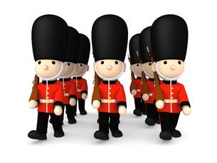 イギリスの近衛兵 おもちゃの兵隊  3DCG イラストのイラスト素材 [FYI00766204]