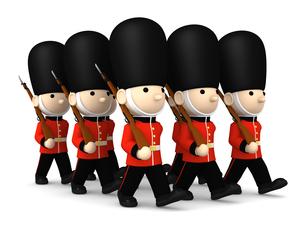 イギリスの近衛兵 おもちゃの兵隊  3DCG イラストのイラスト素材 [FYI00766205]