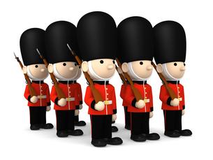 イギリスの近衛兵 おもちゃの兵隊  3DCG イラストのイラスト素材 [FYI00766206]