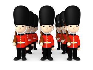 イギリスの近衛兵 おもちゃの兵隊  3DCG イラストのイラスト素材 [FYI00766207]